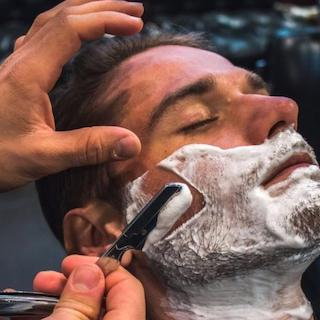 barber shaving