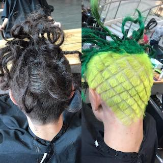 crazy barber hair style